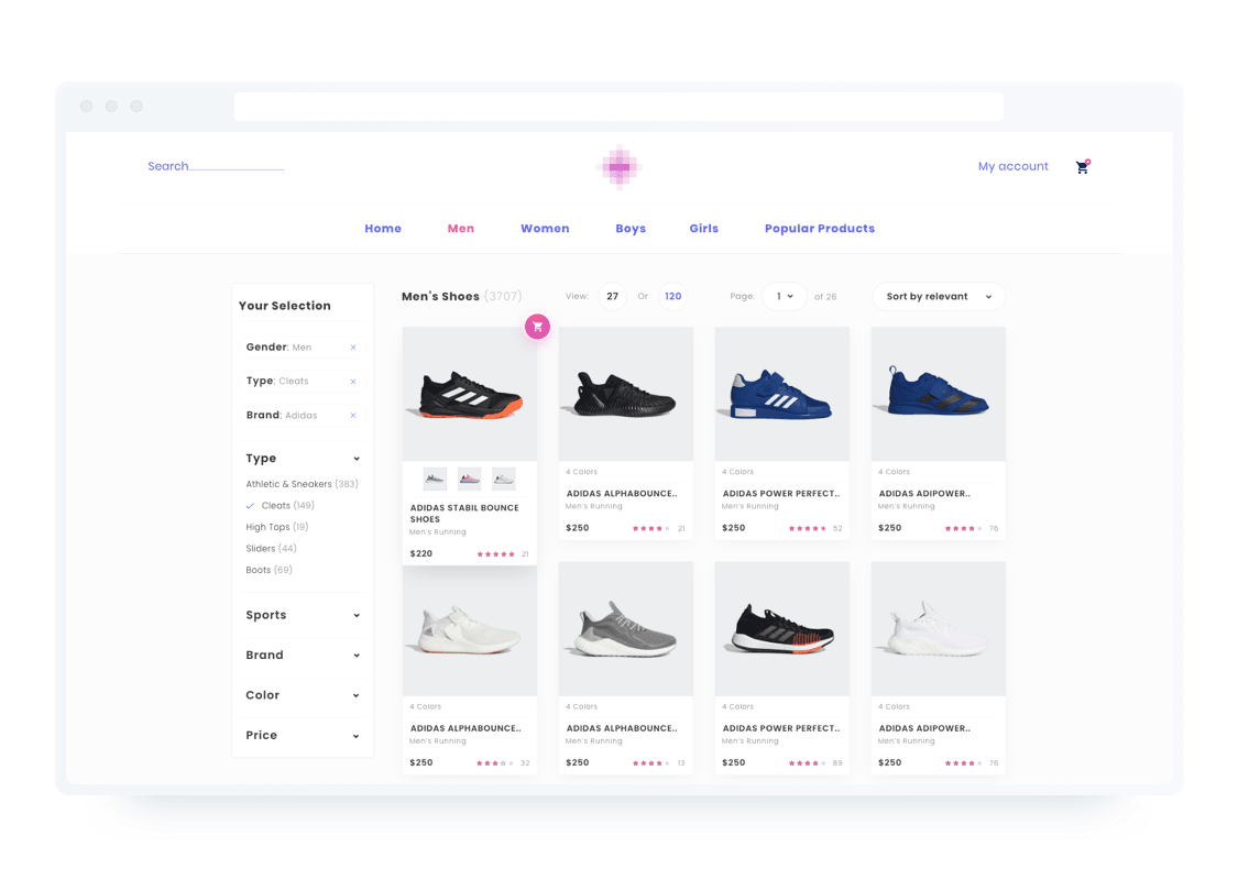 store web design example