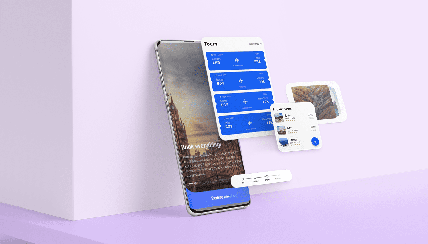 UI mobile app design steps