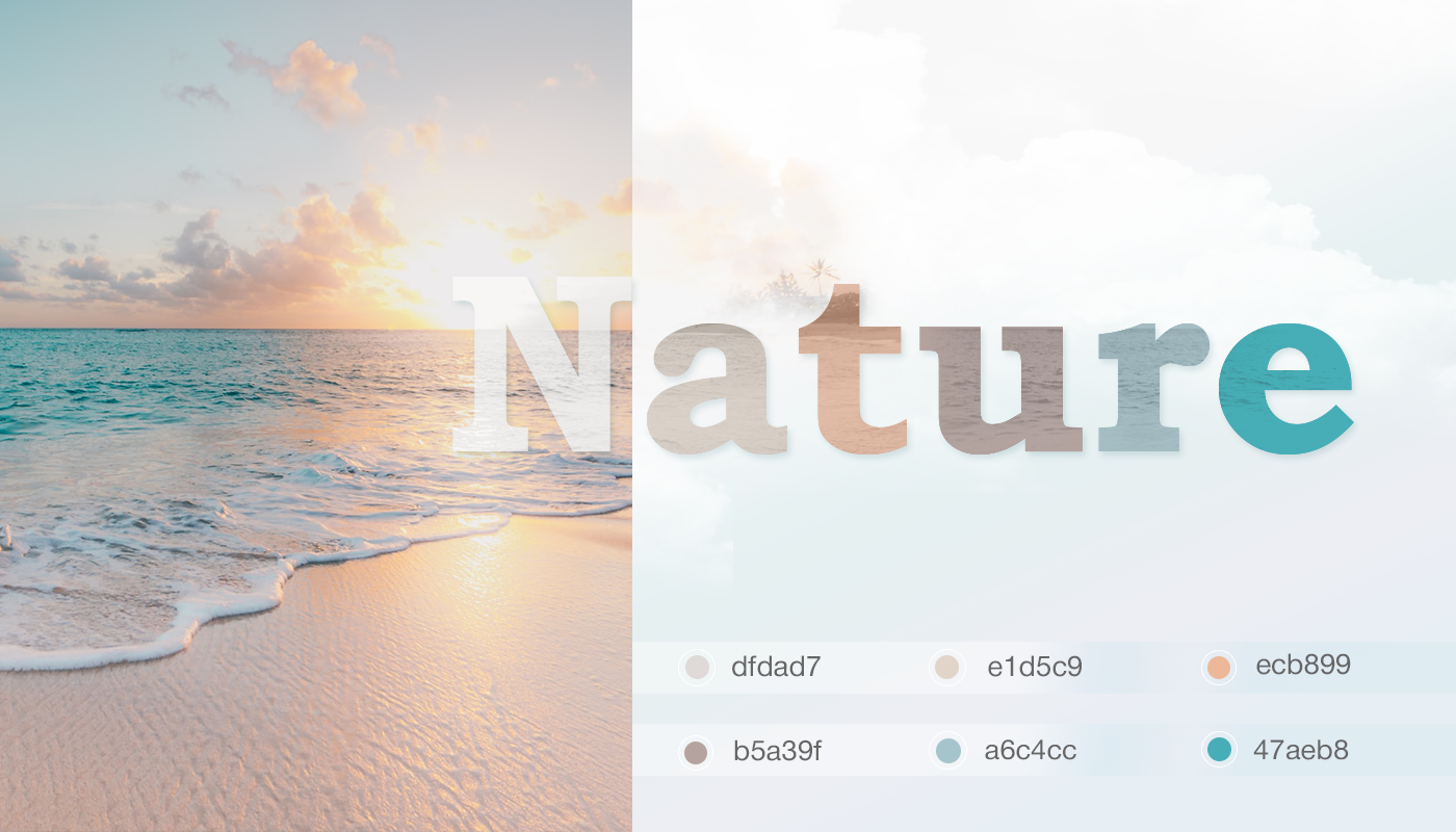 inspire from nature in ui colors