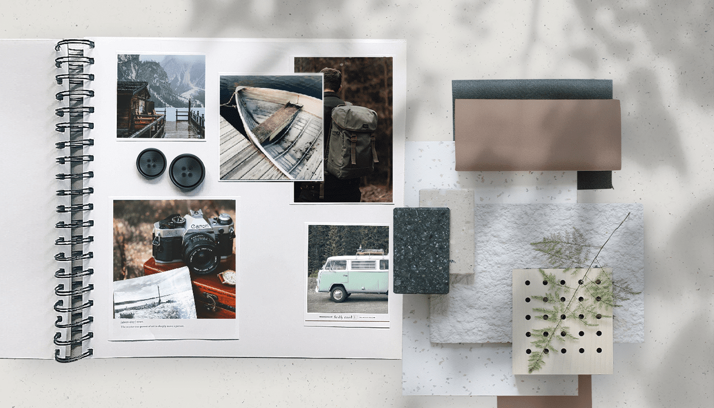 how to create images and materials for mood board