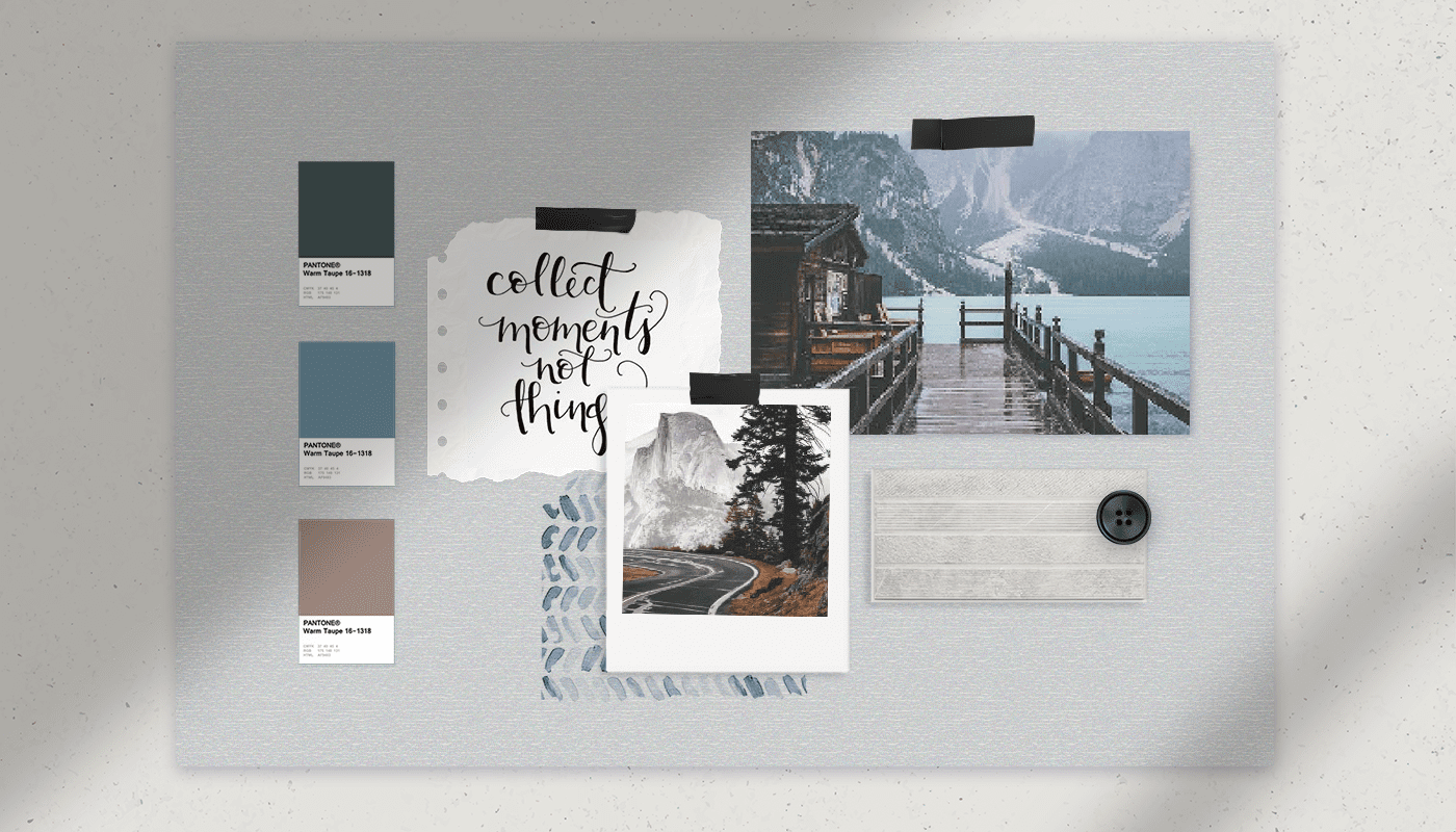 how to create a visual consistency for mood board