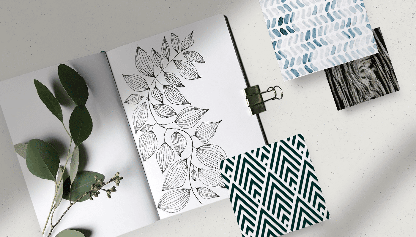 how to create patterns and shapes for mood board