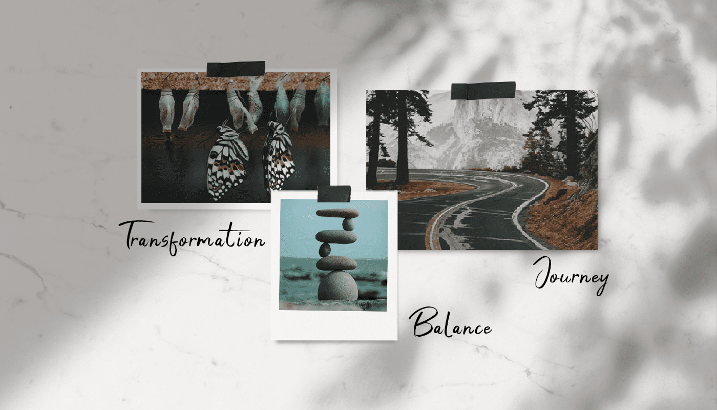 how to create a visual metaphor for mood board