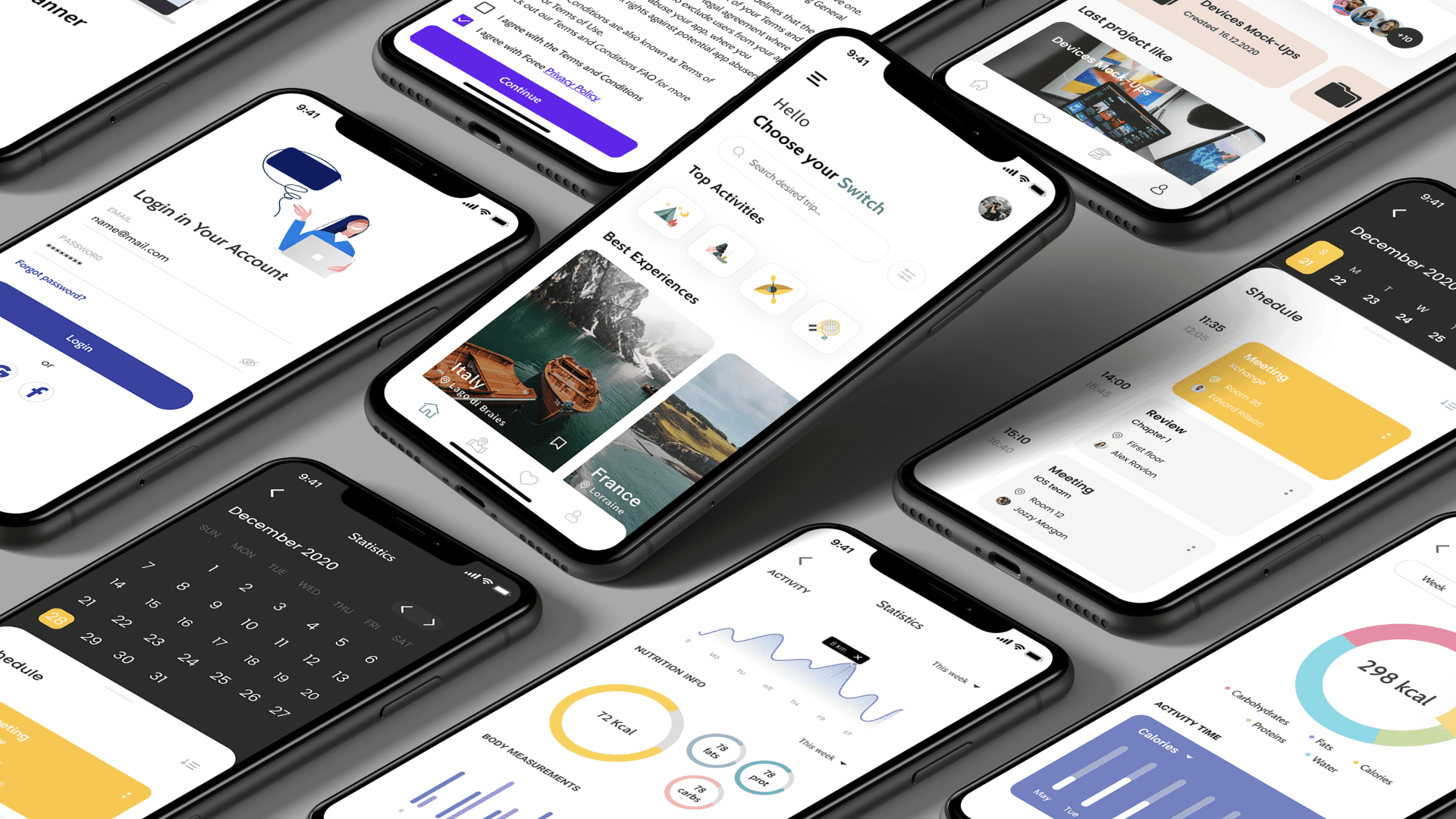 Mobile UI Design Types of Screens to Make the Best App