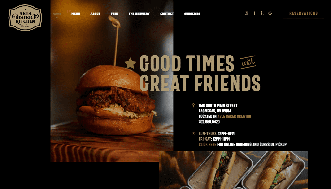 good example of retro fonts web design trend