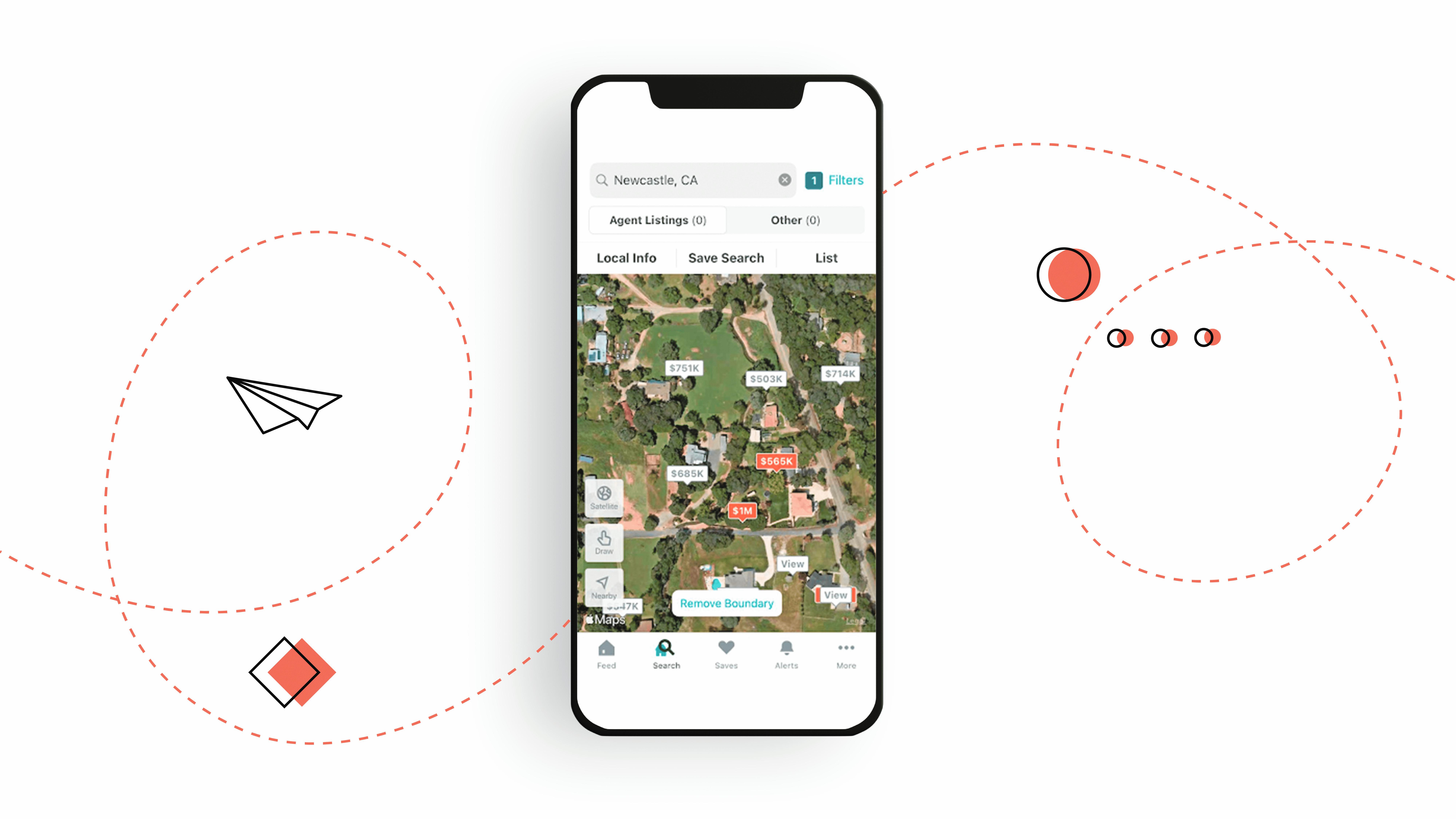 3D landscape model in real estate mobile app design