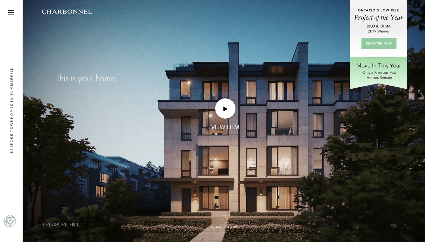this is how web design for real estate with photos looks like