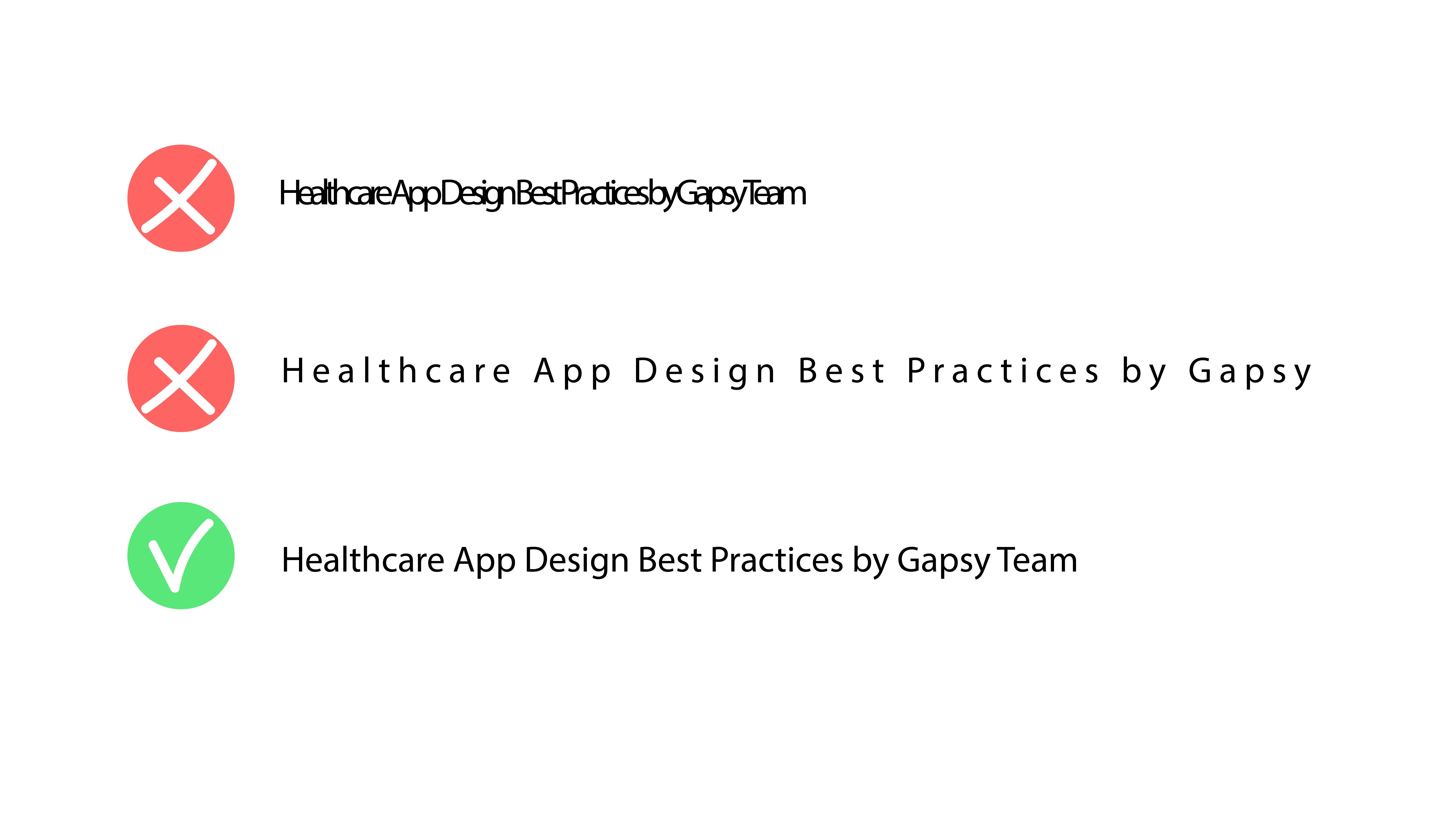 healthcare app design typeface